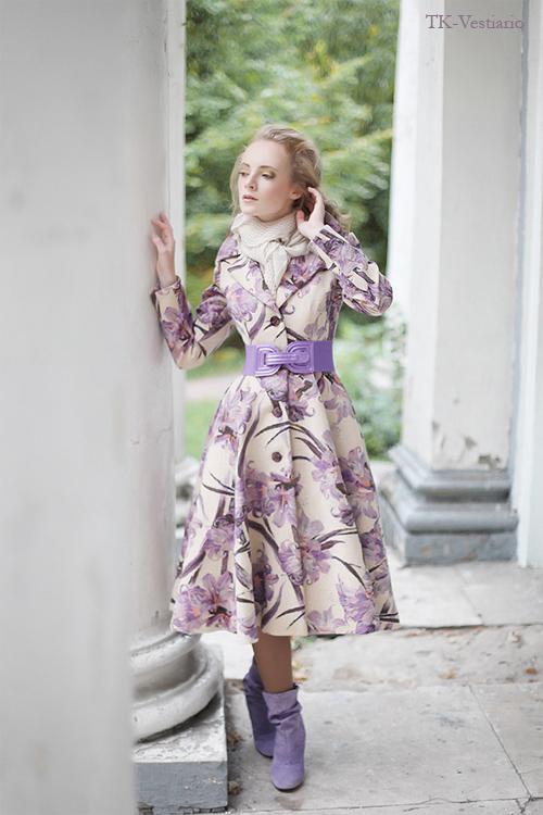 TK-Vestiario Пальто с цветами в стиле 50-х