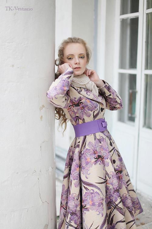 Таисия Кирцова Пальто с цветами в стиле 50-х