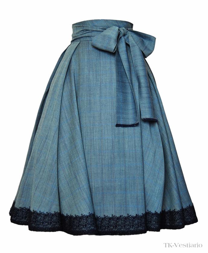 Пышная юбка с кружевом Таисия Кирцова