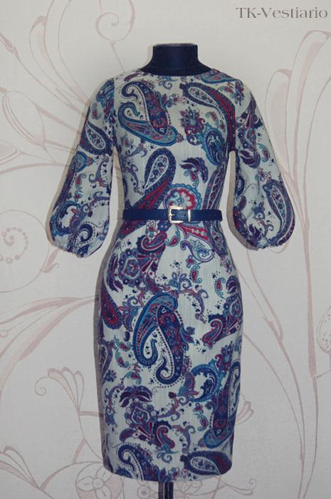 Платье из шерсти с пейсли Таисия Кирцова