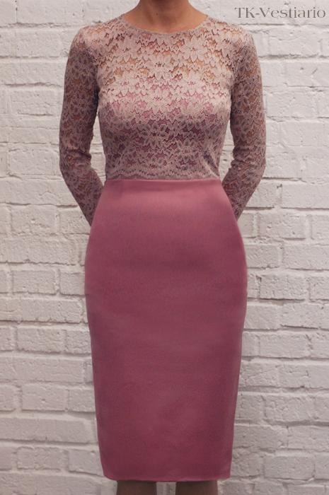 Платье розовое кружево  Таисия Кирцова TK-vestairio