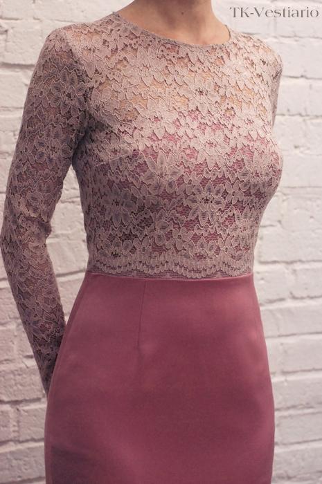 Платье розовое кружево TK-Vestiario