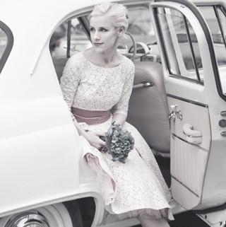 Свадебное платье из винтажного кружева в стиле 50-х /60-х
