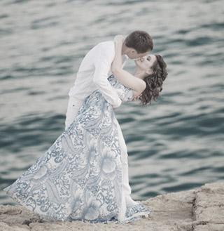 Летящее платье для свадьбы на Кипре