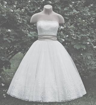 Свадебное платье в стиле new-look (50-х гг).