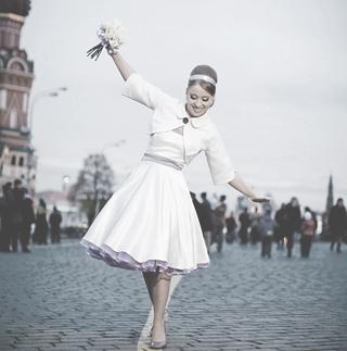 Свадебное платье в стиле new-look (в стиле 50-ых гг).
