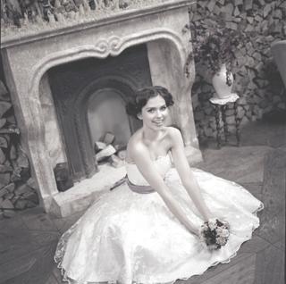 Свадебное платье в стиле 50-х годов (new-look style).