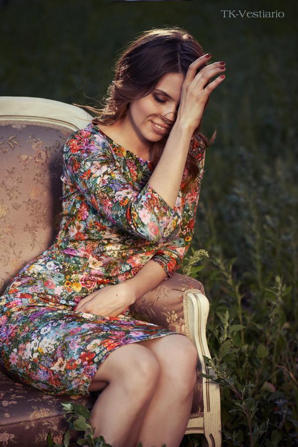 TK-Vestiario Платье из неопрена с цветами