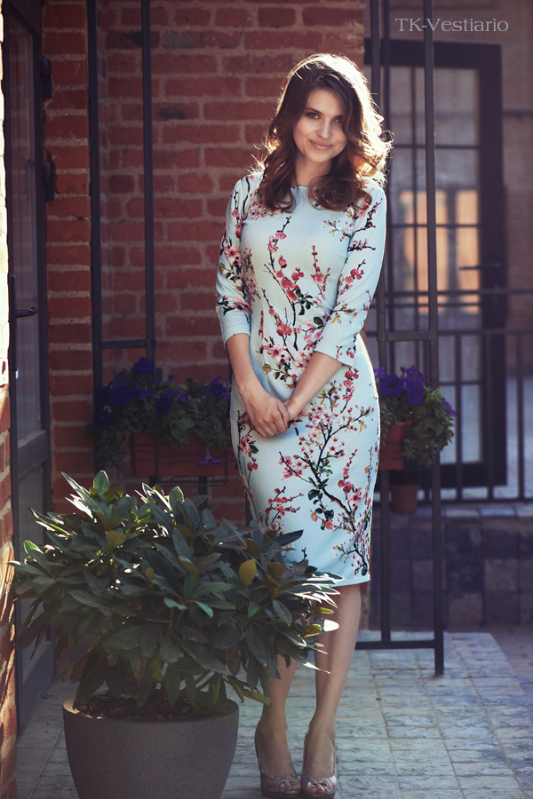 Tk-vestiario  Платье с цветами сакуры