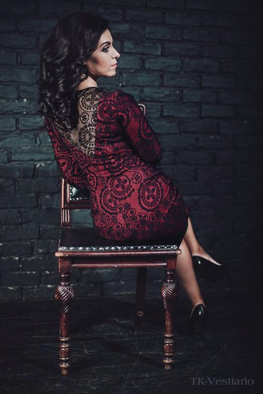 Платье с кружевной спиной TK-Vestiario