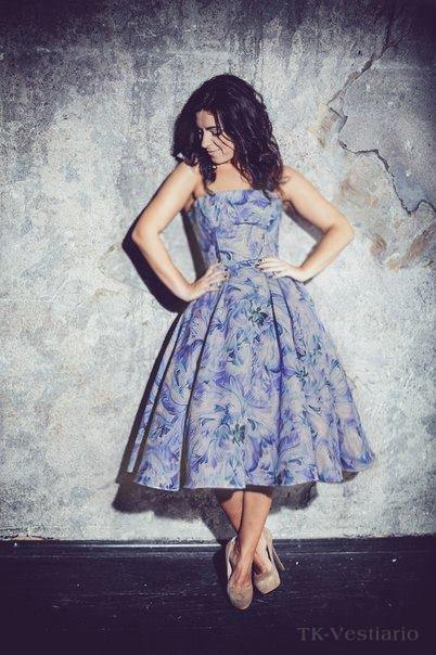 Платье с цветами в стиле 50-х Таисия Кирцова