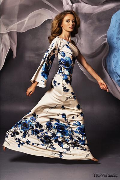 Длинное платье с цветами Таисия Кирцова TK-Vestiario