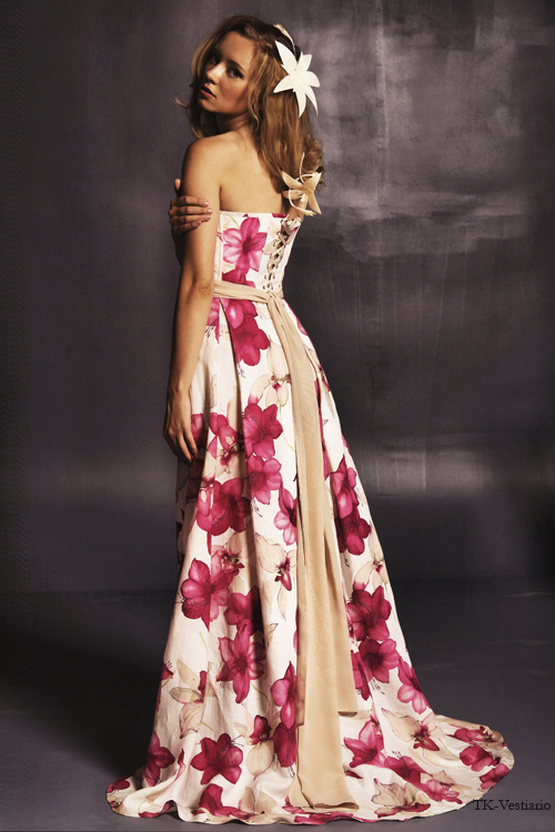 Длинное платье с цветами Таисия Кирцова