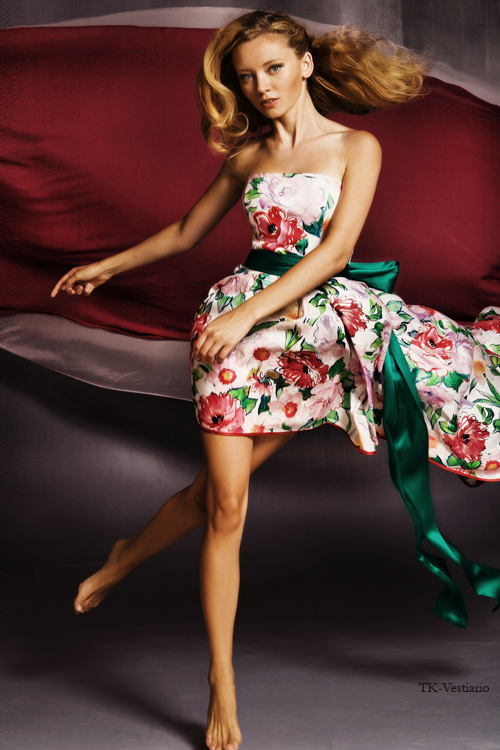 Ассиметричное платье TK-Vestiario