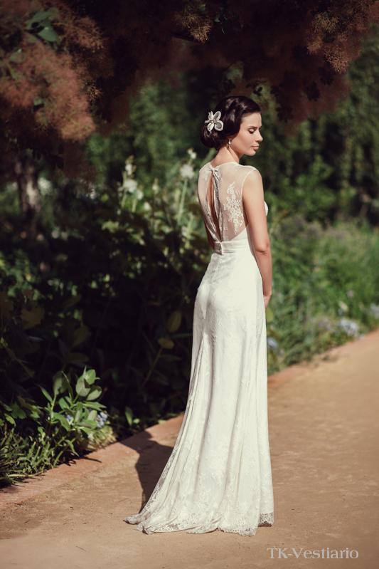свадебное платье из кружева в пол